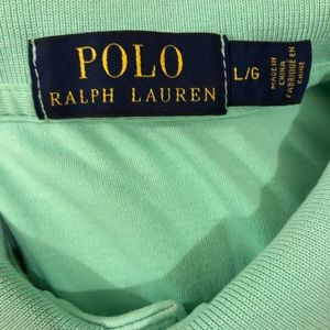 Polo by Ralph Lauren Shirts - Polo Ralph Lauren Mint Green Polo Shirt L